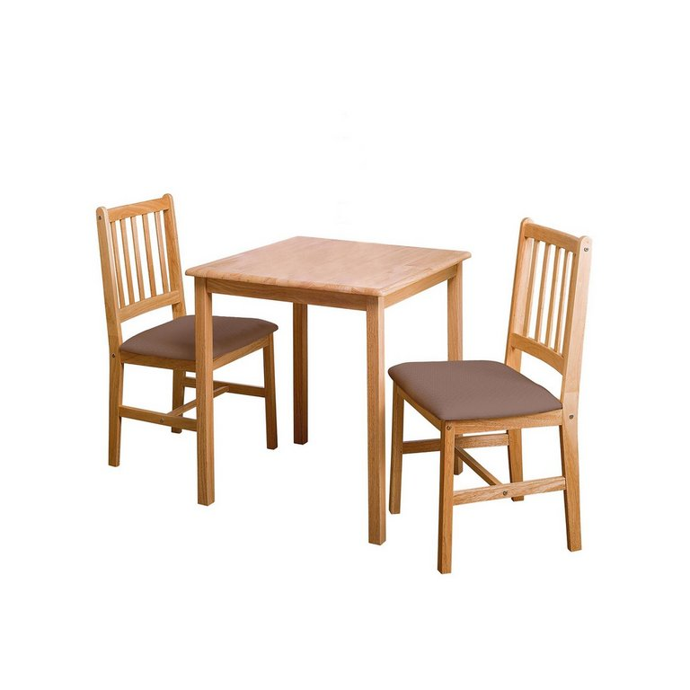 Buy HOME Kendall Square Solid Wood Dining Table amp 2 Chairs  : 6006266RSETMain768ampw620amph620 from www.argos.co.uk size 620 x 620 jpeg 26kB