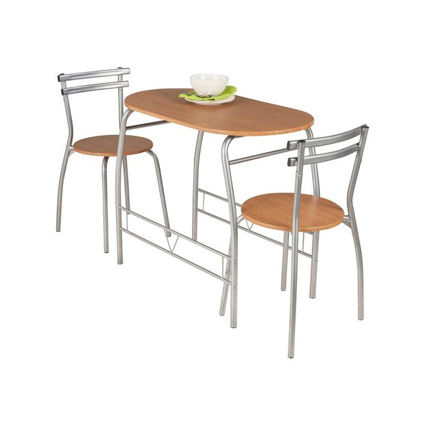 Buy Home Vegas Oak Effect Dining Table Amp 2 Chairs At Argos