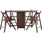 more details on HOME Butterfly Oval Dining Table and 4 Chairs - Chocolate.