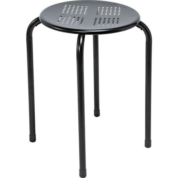 Buy Simple Value Black Stacking Dining Stool At Argos Co