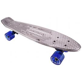 Karnage Retro Skateboard - Chrome Silver.