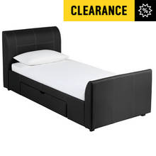 Collection Enrique Black 1 Drawer Bed Frame - Single