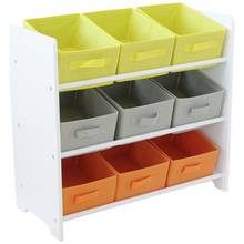 HOME 3 Tier Childrens Basket Storage Unit