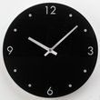 more details on HOME Round Glass Wall Clock - Black.