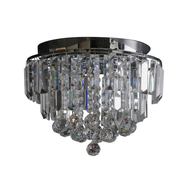 Buy argos home opulence crystal glass flush ceiling light ceiling buy argos home opulence crystal glass flush ceiling light ceiling and wall lights argos aloadofball Gallery