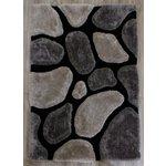 3D Stepping Stone Rug - 120x170cm - Black