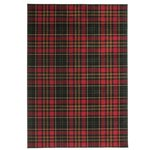Tartan Rug - 120x170cm - Black and Red