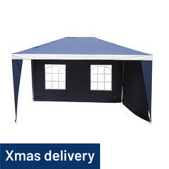 Argos Home 3m x 4m Water Resistant Gazebo with Side Panels