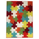 more details on Collection Puzzle Rug - 135x190cm - Multicoloured.