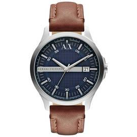 Armani Exchange Men's Brown Leather Strap Watch