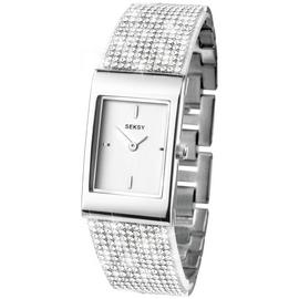 Seksy Ladies' Stone Set Rectangle Bracelet Watch