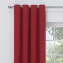 Collection Linen Look Blackout Curtains - 117x137cm - Red