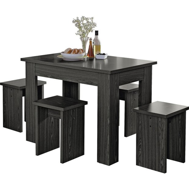 Space Saver Dining Room Table: Buy HOME Legia Space Saver Dining Table And 4 Stools
