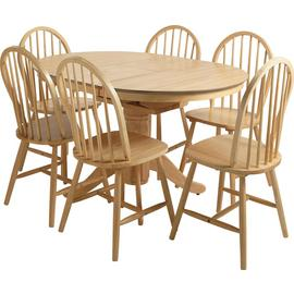 Argos Home Kentucky Solid Wood Extending Table & 6 Chairs