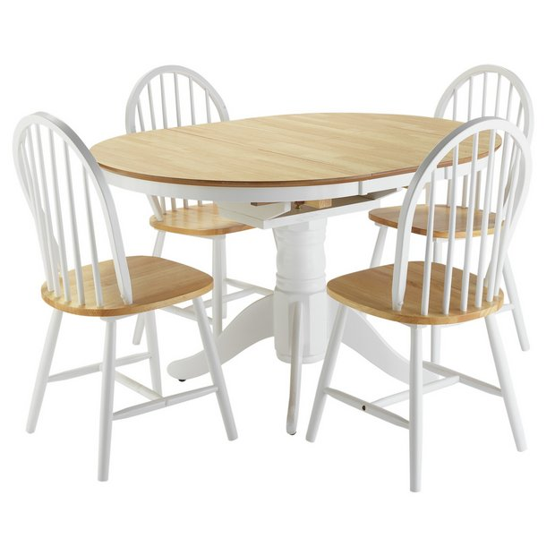Buy Collection Kentucky Ext Dining Table And 4 Chairs Two
