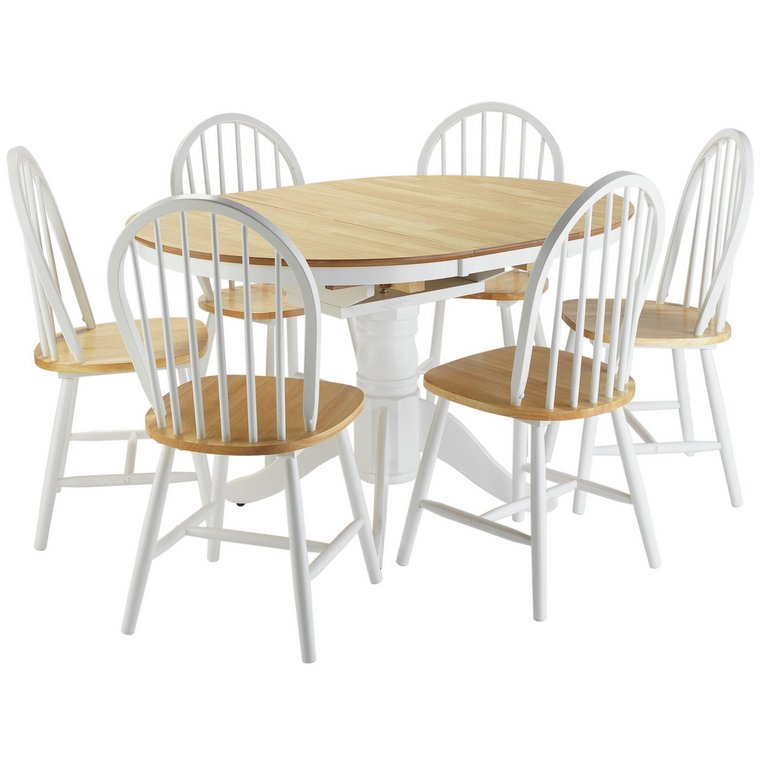 Buy Collection Kentucky Ext Dining Table and 6 Chairs Two  : 6035691RSETMain768ampw620amph620 from www.argos.co.uk size 620 x 620 jpeg 37kB
