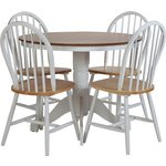 more details on Collection Kentucky Fixed Dining Table & 4 Chairs- Two Tone.
