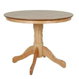 Argos Home Kentucky Round Wood Veneer Dining Table - Natural
