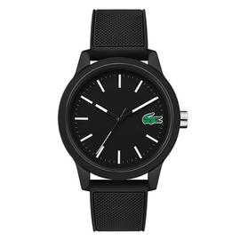 Lacoste 12.12 Men's Black Silicone Strap Watch