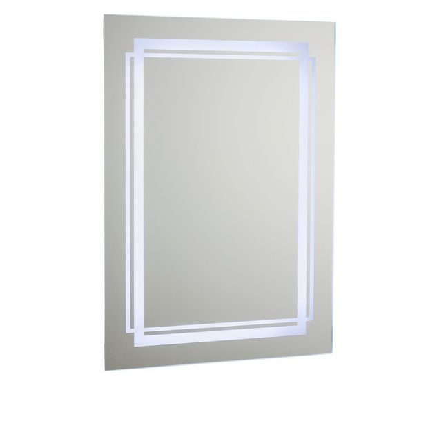 Buy Collection Moda LED Bathroom Mirror With Shaver Point At Argoscouk