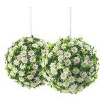 more details on Daisy X2 Art Topiary Balls - 30cm.