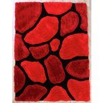 3D Stepping Stone Rug - 120x170cm - Red