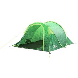 Trespass 4 Man 1 Room Pop Up Tunnel Camping Festival Tent