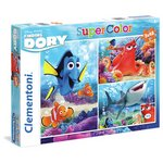 more details on Disney Finding Dory 3 x 48 Piece Puzzle Set.