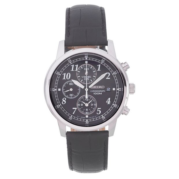 buy seiko men s watches at argos co uk your online shop for more details on seiko men s black strap chronograph watch