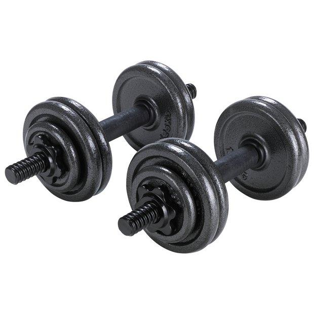 15kg Dumbbell Set: Buy Opti Cast Dumbbell Set - 15kg