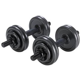 Opti Cast Iron Dumbbell Set - 15kg