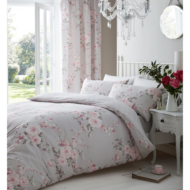 Buy Catherine Lansfield Canterbury Floral Bedding Set - Double at ... : quilt covers argos - Adamdwight.com