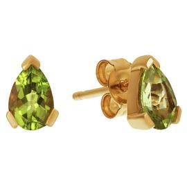Revere 9ct Yellow Gold Peridot Teardrop Stud Earrings