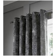 Catherine Lansfield Crushed Velvet Curtains 229x229cm Silver