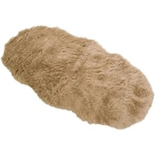 Faux Fur Double Sheep Shape Rug - 75x133cm - Taupe
