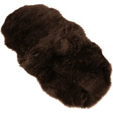 Faux Fur Double Sheep Shape Rug - 75x133cm - Brown