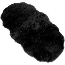 Faux Fur Double Sheep Shape Rug - 75x133cm - Black