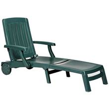 HOME Deluxe Green Resin Sun Lounger