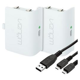 Venom Twin Rechargeable Battery Packs Xbox One - White