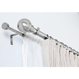 Argos Home Extendable Double Curtain & Voile Pole - S. Steel