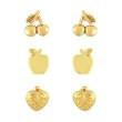 more details on Miss Glitter 9ct Gold Plated Silver Fruit Studs - Set of 3.