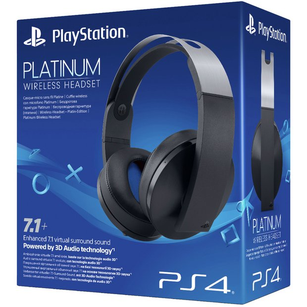 Buy Sony Wireless PS4 Headset - Platinum | Gaming headsets | Argos