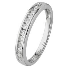 Revere 9ct White Gold 0.25ct tw Diamond Eternity Ring faf6ae020b