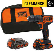 Black and Decker Cordless Drill Driver with 2 18V Batteries