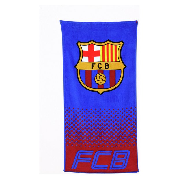 Buy barcelona fc fade towel at your online for Bathroom accessories argos