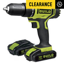 Guild 1.5AH Li-ion Hammer Drill and 2 18V Batteries