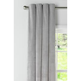 Argos Home Velour Lined Eyelet Curtains