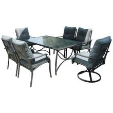 Seville 6 Seater Metal Garden Dining Set