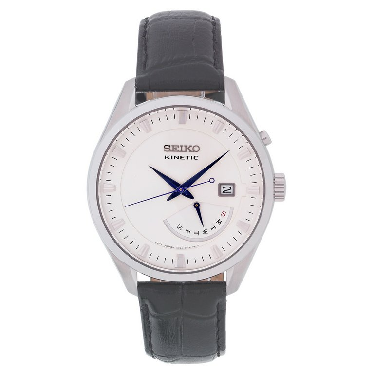 buy seiko s kinetic day date leather at