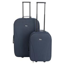 Go Explore 2 Piece Soft 2 Wheeled Luggage Set - Blue